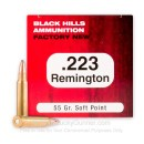 Cheap 223 Rem Ammo For Sale - 55 Grain SP Ammunition in Stock by Black Hills Ammunition - 50 Rounds