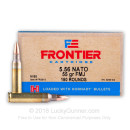 Bulk 5.56x45 Ammo For Sale - 55 Grain FMJ M193 Ammunition in Stock by Hornady Frontier - 1200 Rounds