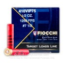 "Bulk 410 Gauge Ammo For Sale - 2-1/2"" 1/2 oz. #7.5 Lead Shot Ammunition in Stock by Fiocchi - 250 Rounds"
