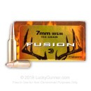7mm Winchester Short Magnum Ammo For Sale - 150 gr - Federal Fusion Ammo Online - 20 Rounds