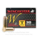 Cheap 38 Special Ammo For Sale - 130 gr FMJ - Winchester Train & Defend Ammunition - 50 Rounds