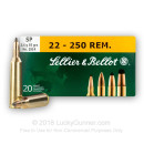 Cheap 22-250 Ammo For Sale - 55 gr SP - Sellier & Bellot Ammo Online - 20 Rounds