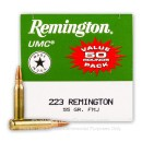 Bulk 223 Rem Ammo For Sale - 55 gr MC Ammunition In Stock by Remington UMC