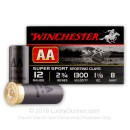 "Bulk 12 Gauge Ammo For Sale - 2-3/4"" #8 Shot Ammunition in Stock by Winchester AA Sporting Clays - 250 Rounds"