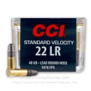 22 LR Ammo For Sale - 40 gr LRN Standard Velocity - CCI Mini Mag Ammunition In Stock - 100 Rounds