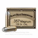 Cheap 357 Mag Ammo For Sale - 158 Grain CNL Ammunition in Stock by Black Hill Ammunition - 50 Rounds