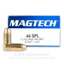 Cheap 44 Special Ammo For Sale - 240 Grain FMJ Ammunition in Stock by Magtech - 50 Rounds