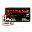Bulk 357 Sig Ammo For Sale - 125 Grain JHP Ammunition in Stock by Winchester Elite PDX1 Defender - 200 Rounds