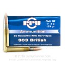 303 British Ammo For Sale - 174 gr FMJBT Ammunition In Stock by Prvi Partizan