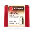 Cheap 475 Cal Bullets For Sale - 325 Grain HP Bullets in Stock by Hornady XTP - 50