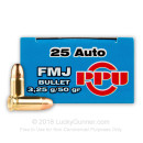 Cheap 25 ACP - 50 gr FMJ - Prvi Partrizan - 50 Rounds