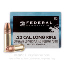 22 LR Small Game Hunting Ammo For Sale - 38 Grain CPHP Ammunition by Federal Game Shok In Stock - 500 Rounds