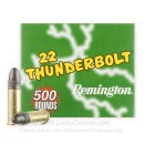22 LR Ammo For Sale - 40 gr LRN - Remington Thunderbolt Ammunition In Stock - 500 Rounds