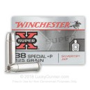 Cheap 38 Special +P Ammo For Sale - 125 Grain JHP Ammunition in Stock by Winchester Silvertip - 50 Rounds