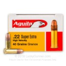 Bulk 22 LR Ammo For Sale - 40 gr CPRN - Aguila SuperExtra Ammunition Online - 500 Rounds