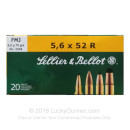 Cheap 5.6x52mm Rimmed Ammo For Sale - 70 Grain FMJ Ammunition in Stock by Sellier & Bellot - 20 Rounds