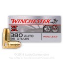 Bulk 380 Auto Ammo For Sale - 95 Grain BEB Ammunition in Stock by Winchester WinClean - 500 Rounds