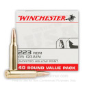 Cheap .223 Rem Ammo For Sale - 45 Grain JHP Ammunition in Stock By Winchester - 40 Rounds