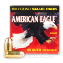 45 ACP Ammo For Sale - 230 Grain FMJ Ammunition In Stock by Federal American Eagle - 100 Rounds