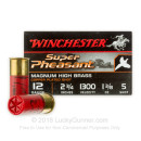 "Bulk 12 Gauge Ammo For Sale - 2-3/4"" 1-3/8 oz. #5 Shot Ammunition in Stock by Winchester Super Pheasant - 250 Rounds"