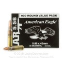 5.56x45 XM193BL Ammo For Sale - 55 gr FMJ-BT  Federal Ammunition - 100 Rounds