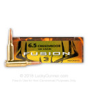 Premium 6.5 Creedmoor Ammo For Sale - 140 Grain SP Ammunition in Stock by Federal Fusion - 20 Rounds