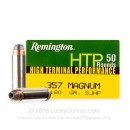 Cheap 357 Magnum Ammo For Sale - 180 gr SJHP Remington HTP Ammunition In Stock - 50 Rounds