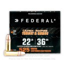 Bulk 22 LR Ammo For Sale - 36 Grain CPHP Ammunition in Stock by Federal Ultra - 5250 Rounds