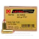 44 Magnum Ammo For Sale - 225 gr JHP FTX LEVERevolution Hornady Ammunition In Stock - 20 Rounds