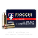 44 Magnum Ammo For Sale - 200 gr SJHP Ammunition In Stock by Fiocchi