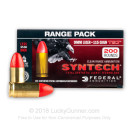 Indoor Target 9mm Ammo For Sale - 115 Grain TSJ Ammunition in Stock by Federal Syntech - 200 Rounds