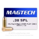 38 Special Ammo For Sale - 158 gr SJSP Magtech Ammunition In Stock
