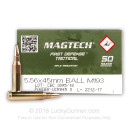 Bulk 5.56x45 M193 Ammo For Sale - 55 gr FMJ-BT CBC (Magtech) Ammunition - 1000 Rounds