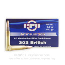 Cheap 303 British Ammo For Sale - 150 Grain SPBT Ammunition in Stock by Prvi Partizan - 200 Rounds