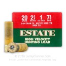 "Cheap 20 Gauge Ammo For Sale - 2-3/4"" 2-3/4 Dram 1 oz. #7-1/2 Shot Ammunition in Stock by Estate HV Hunting - 25 Rounds"