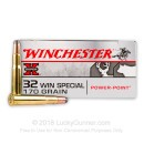 Premium 32 Winchester Special Ammo For Sale - 170 Grain Power Point Ammunition in Stock by Winchester Super-X - 20 Rounds