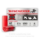 "Bulk 12 Gauge Ammo - 2-3/4"" Lead Shot Game Shot Shells - 1 oz - #6 - Winchester Super-X - 250 Rounds"
