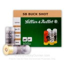 "Cheap 12 ga Ammo For Sale - 2-3/4"" #1 Buck 12 Pellet Ammunition by Sellier & Bellot - 10 Rounds"