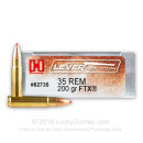 Premium 35 Rem Hornady 200 Grain FTX Ammo For Sale Online at Lucky Gunner - In Stock .35 Rem Ammo!