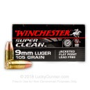 Premium 9mm Ammo For Sale - 105 Grain JSP Ammunition in Stock by Winchester Super Clean Non-Toxic - 50 Rounds