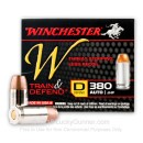 Cheap 380 Auto Ammo For Sale - 95 Grain JHP Ammunition in Stock by Winchester W Train and Defend - 20 Rounds