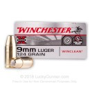 9mm Ammo - 124 gr BEB - Winclean Ammunition - 500 Rounds
