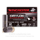 """Bulk 12 Gauge Ammo For Sale - 3"""" 1-1/4 oz. #T Steel Shot Ammunition in Stock by Winchester Super-X Drylok - 250 Rounds"""