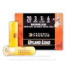 "Premium 20 Gauge Ammo For Sale - 3"" 1-1/4 oz. #6 Shot Ammunition in Stock by Federal Premium - 250 Rounds"