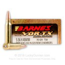 Premium 5.56x45mm Ammo For Sale - 70 Grain TSX Ammunition in Stock by Barnes VOR-TX - 20 Rounds