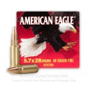 Bulk 5.7x28mm - 40 gr TMJ - Federal American Eagle - 500 Rounds