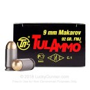 Cheap 9x18mm Mak Ammo For Sale - 92 Grain FMJ Ammunition in Stock by Tula - 1000 Rounds
