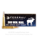 300 Winchester Magnum Ammo For Sale - 180 Grain Soft Point Hot-Cor Bullets - Federal Power Shok Ammo Online