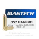 Cheap 357 Mag - 158 gr FMJ With Brass Casings - Magtech - 50 Rounds