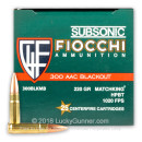 Cheap 300 AAC Blackout Ammo For Sale - 220 Grain HPBT MatchKing Ammunition in Stock by Fiocchi - 25 Rounds